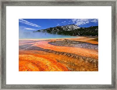 Grand Prismatic Spring Boardwalk View Framed Print