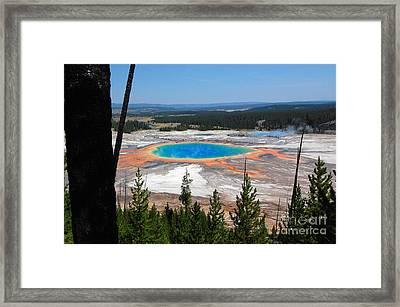Grand Prismatic Spring From Hillside Framed Print