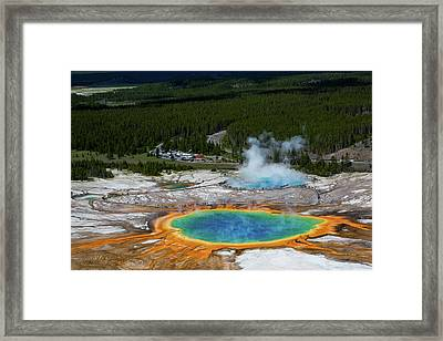Grand Prismatic, Yellowstone National Framed Print