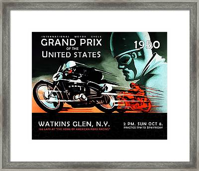 Grand Prix 1950 Framed Print by Mark Rogan