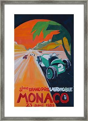 Grand Prix Framed Print by Julie Todd-Cundiff