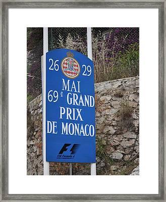 Grand Prix Sign Framed Print