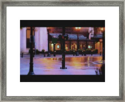 Grand Rapids Antique Architecture Of Starbucks Cafe  Framed Print by Rosemarie E Seppala