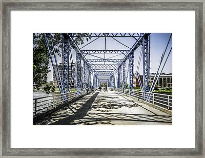 Grand Rapids Bridge Framed Print