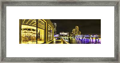 Grand Rapids Panorama Framed Print