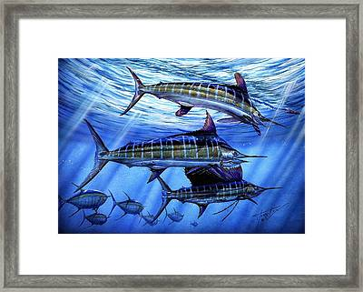 Grand Slam Lure And Tuna Framed Print by Terry Fox