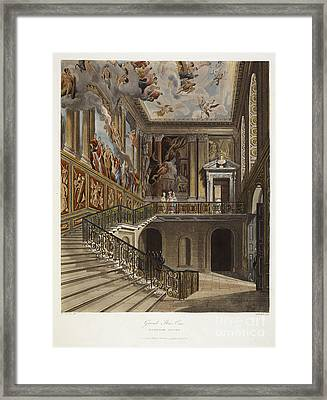 Grand Stair Case, Hampton Court Framed Print