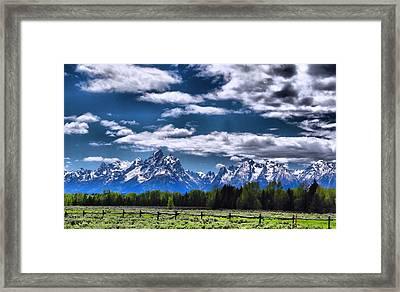 Grand Teton Fence Framed Print by Dan Sproul