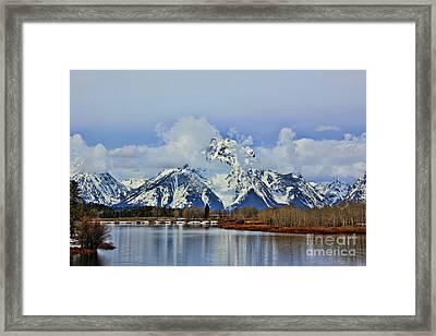 Grand Teton Framed Print by Leslie Kirk