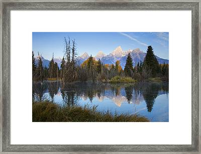 Grand Teton Morning Reflection Framed Print