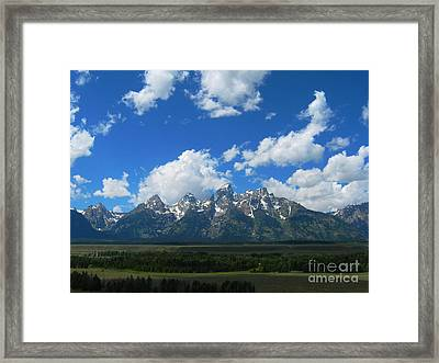 Framed Print featuring the photograph Grand Teton National Park by Janice Westerberg