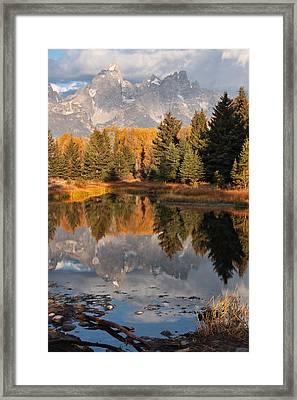 Grand Teton Reflection Framed Print