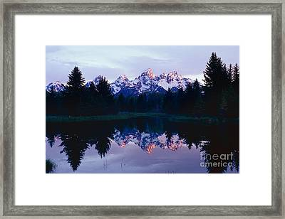 Grand Teton Reflex Framed Print