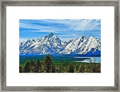 Grand Teton Spring Framed Print