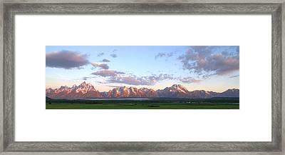 Grand Teton Sunrise Panorama Framed Print by Brian Harig