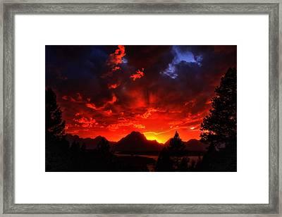 Grand Teton Sunset Framed Print by Aidan Moran