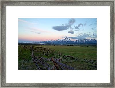 Grand Tetons Before Sunrise Framed Print by Brian Harig
