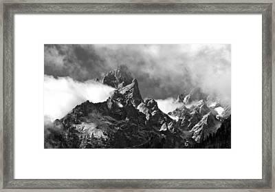 Grand Tetons Framed Print by Charles Kosina