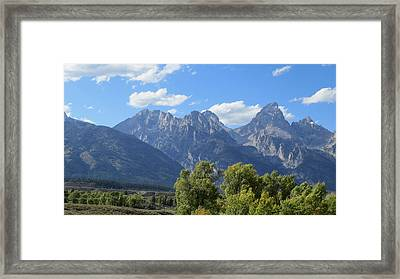 Grand Tetons Framed Print by Diane Mitchell