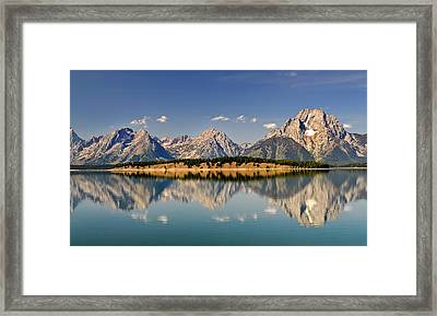 Grand Tetons Framed Print by Geraldine Alexander