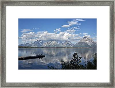 Framed Print featuring the photograph Grand Tetons In The Morning Light by Belinda Greb