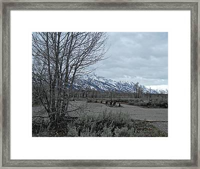 Grand Tetons Landscape Framed Print