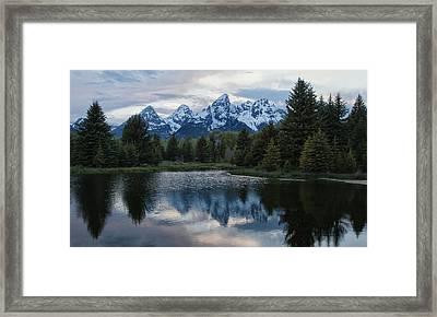 Grand Tetons Reflection Framed Print by Jack Nevitt