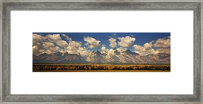 Framed Print featuring the photograph Grand Tetons by Sonya Lang