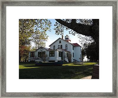 Grand Traverse Lighthouse Framed Print by Keith Stokes
