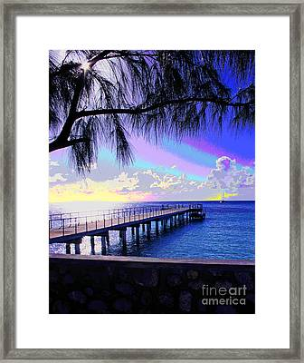 Grand Turk Sunset Framed Print