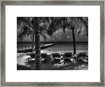 Grand Turk Vacation 001 Bw Framed Print by Lance Vaughn