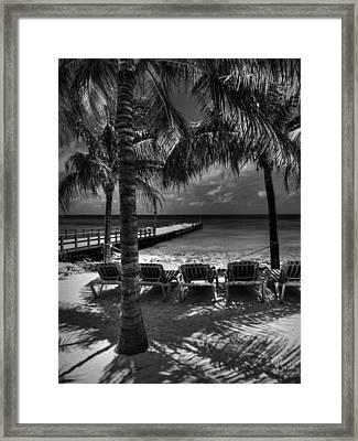 Grand Turk Vacation 002 Bw Framed Print by Lance Vaughn