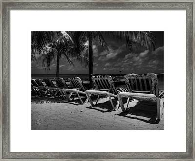 Grand Turk Vacation 003 Bw Framed Print by Lance Vaughn