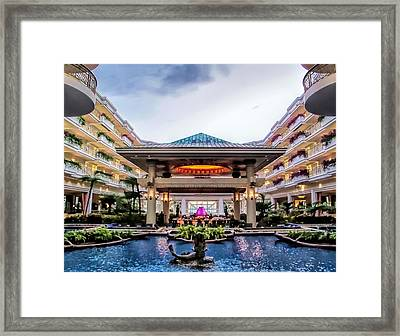 Framed Print featuring the photograph Grand Wailea 74 by Dawn Eshelman