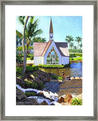 Grand Wailea Seaside Chapel Framed Print by Steve Simon