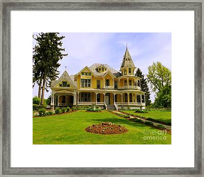 Framed Print featuring the photograph Grand Yellow Victorian by Becky Lupe
