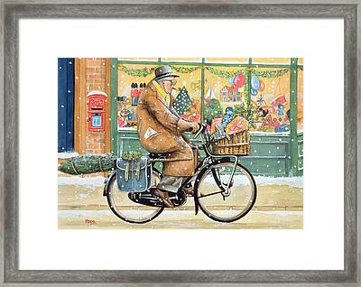 Grandad Is Coming For Christmas Framed Print by Tony Todd