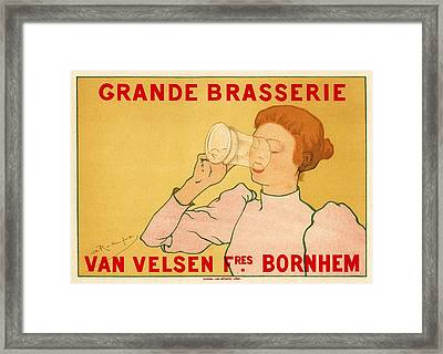 Grande Brasserie Framed Print by Gianfranco Weiss