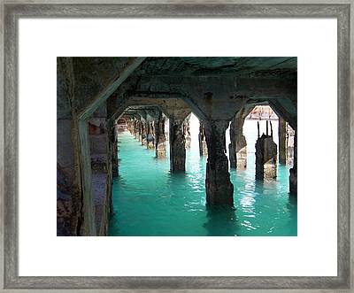 Grande Casse Pier Framed Print by David and Lynn Keller