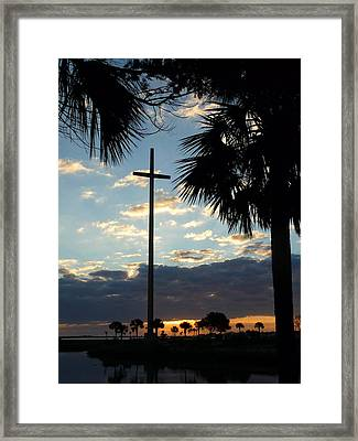 Grande Cross Framed Print by Phil King