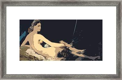 Grande Odalisque Framed Print by Ds
