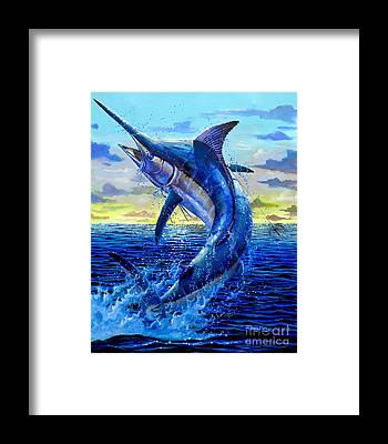 White Marlin Framed Prints