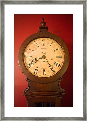 Grandfather Clock Top 1 Framed Print by Douglas Barnett