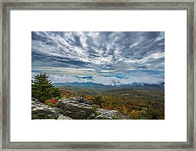 Grandfather Mountain Framed Print by John Haldane