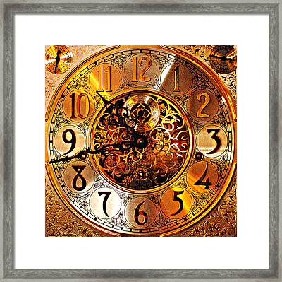 Grandfather Time Hdr Framed Print by Frozen in Time Fine Art Photography
