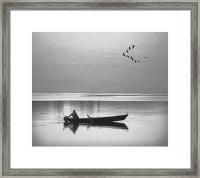 Grandfather Was A Fisherman Framed Print by Daniel Hagerman