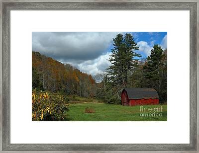 Grandfather's Barn Framed Print by Benanne Stiens