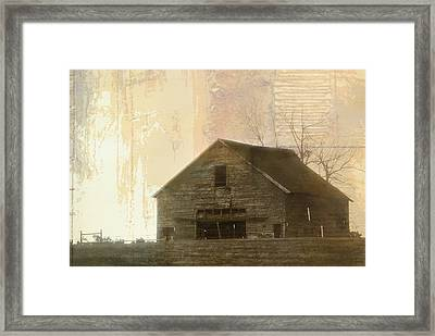 Grandfather's Barn Framed Print by Lena Wilhite