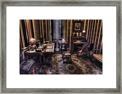 Grandfather's Office Framed Print by William Fields