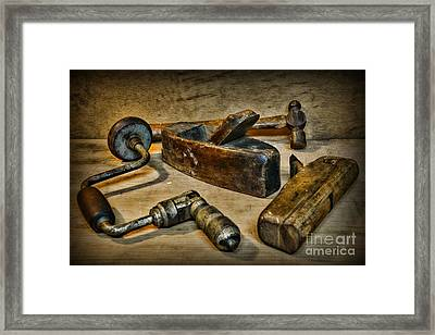 Grandfathers Tools Framed Print by Paul Ward